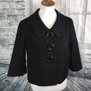 Halogen. Black Petty/ Pea Coat. Cropped Jacket.